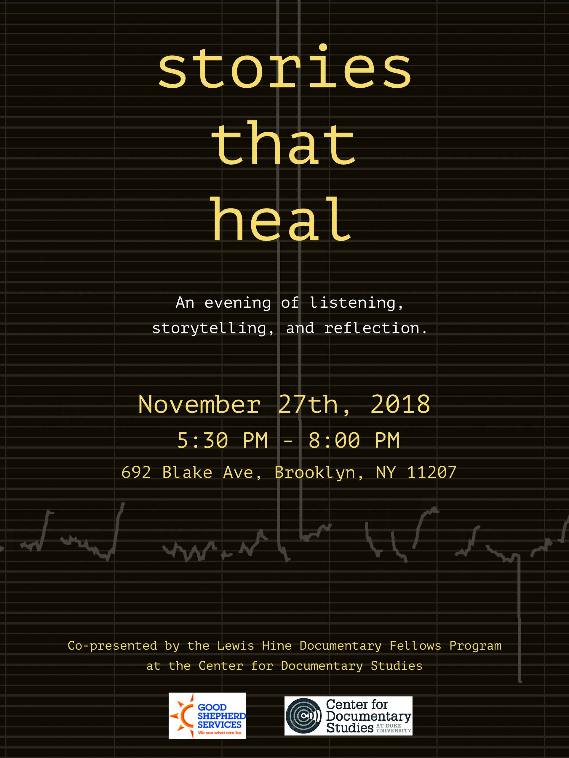 Stories That Heal | November 27, 5:30-8:00pm