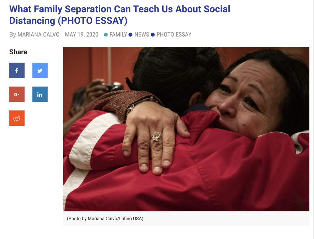 Mariana Calvo's Photo Essay on Family Separation featured on NPR's LatinoUSA